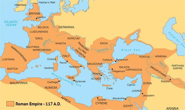 Roman Empire - 117 AD